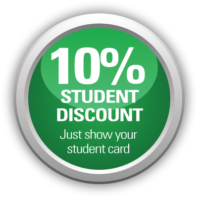 10% student discount on Exeter driving lessons